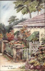 Bermuda - Ethel & CF Tucker View Postcard/Card - St. George's Home
