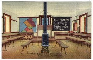 Valley Forge, Pa., Interior of Old Camp School