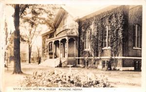 RICHMOND INDIANA WAYNE COUNTY HISTORICAL MUSEUM REAL PHOTO POSTCARD  DAMAGE