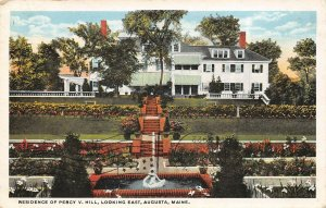 LPS62 Augusta Maine Percy Hill Residence Vintage Postcard