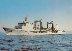 Meuse French Military War Ship Postcard