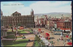 Donegall Square Belfast Ireland 1953 Valesque Postcard Valentine & Sons