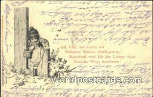 Germany, Deutschland Postcard Iesl, lerne be Zeiten nur  Iesl, lerne be Zeite...