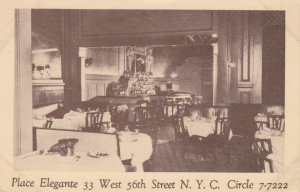 NEW YORK CITY , 1900-10s ; Place Elegante , 33 West 56th Street