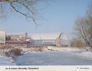 Ice & Leisure Sports Centre Riverside Chelmsford at Winter Snow Essex Postcard