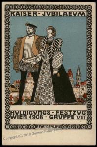 Wiener Werkstaette Nr165 Artist Remigus Geyling 1908 Kaiser FJ Anniversary 71195