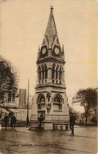 RPPC Southampton UK Clock Tower Hampshire Postcard pm 1917