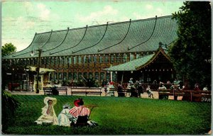 1908 Oakland, California Postcard IDORA PARK SKATING RINK Largest in the World