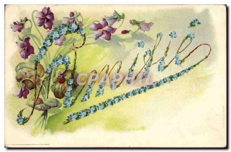 Old Postcard Fancy Emilie Surname