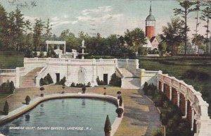 New Jersey Lakewood Georgian Court Sunken Gardens 1909