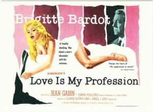 Postcard of Love Is My Profession Brigitte Bardot Jean Gabin Movie
