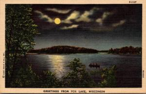 Wisconsin Greetings From Fox Lake Curteich