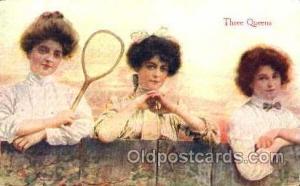 Three Queens, Tennis Postcard Postcards