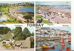Devon Postcard - Views of Torbay - Ref 18670A