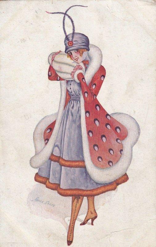 SAGER , Xavier ; woman in orange coat , 00-10s