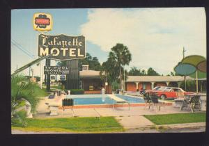 TALLAHASSEE FLORIDA LAFAYETTE SUPERIOR MOTEL CORVAIR MONZA OLD POSTCARD
