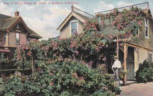 SOUTHERN CALIFORNIA, 1900-1910s; A Home Among The The Roses In Southern Calif...