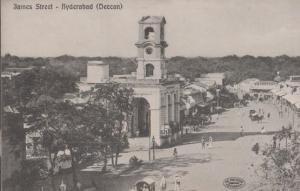 James Street Hyderabad Deccan Indian Antique Postcard