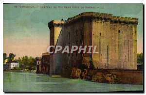 Old Postcard Tarascon Chateau du Roi Rene side of the Rhone
