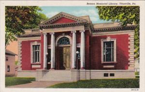Pennsylvania Titusville Benson Memorial Library Curteich