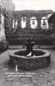 RP, Bells and Sacred Garden, Mission San Juan Capistrano, Southern CALIFORNIA...