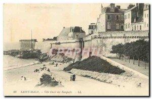 Postcard Old Saint Malo West Coast Remparts