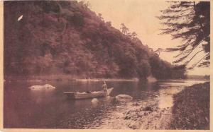 Japan Water View Canoe  Postal Used Antique Postcard J72449