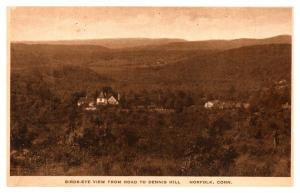 Connecticut Norfolk , Aerial View from Road to Dennis Hill