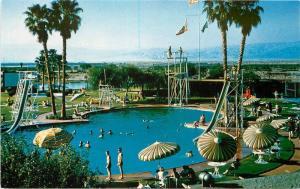 1950s Palm Springs California Shadow Mountain Club Pool Western postcard 1648