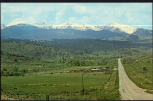 Montana WHITEHALL and BUTTE Panoramic View of Highway #10 - Chrome