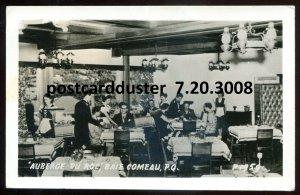 3008 - BAIE COMEAU Quebec 1964 Auberge Du Roc Interior. Real Photo Postcard