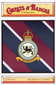 Postcard RAF Royal Air Force No.76 Squadron Crest Badge No.69 NEW