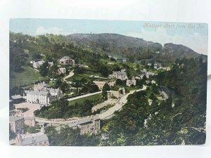 Vintage Postcard Matlock Bath from Cat Tor 1907