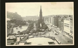 Postmark 1958 Edinburgh Scotland Princes Street Edinburgh Photo Postcard