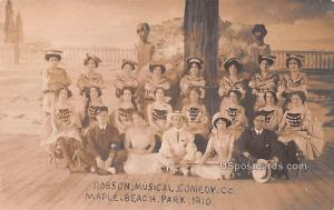 Robson Musical Comedy Co Maple Beach Park NY 1910