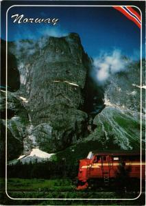 CPM AK Trollvegen - Landscape with Railway Engine NORWAY (779531)