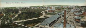 Fort Ethan Allen VT Birdseye View Camp & RR Train Station Fold Open Panorama
