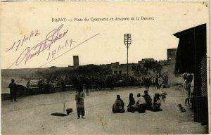 CPA AK MAROC RABAT - Place du Commerce et descente de la Douane (280727)