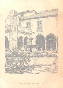 Portugal Aveiro Claustros da Igreja de Jesus, drawing, desenho A. Braz Ruivo