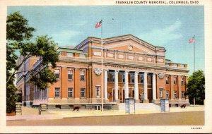 Ohio Columbus Franklin County Memorial 1935 Curteich