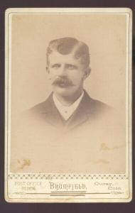 REAL PHOTO CABINET CARD OURAY COLORADO CHRIS BOWMAN MAN SUIT 1892