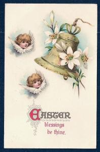 Blessing be Thine Angels & Bells Easter used c1909