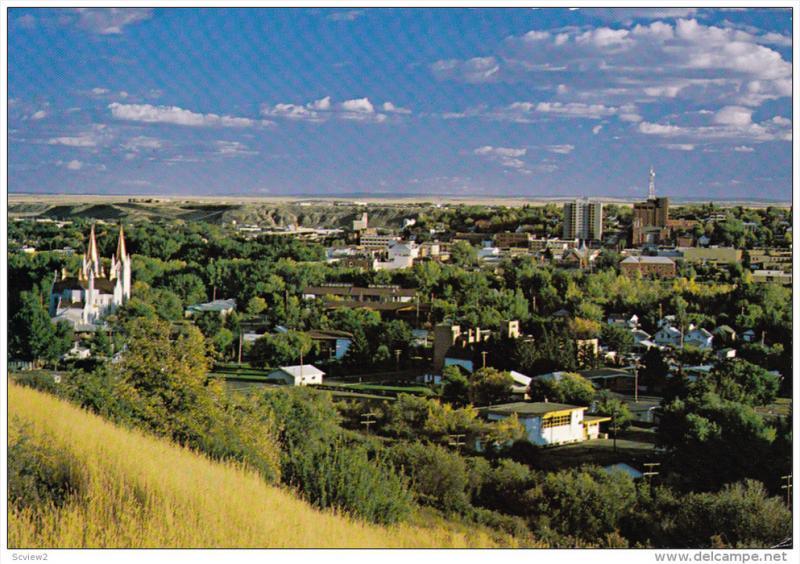 Aerial View, Medicine Hat, MEDICINE HAT, Alberta, Canada, 50-70´s