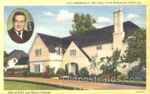 Bob Hope, Hollywood, CA Movie Star Homes Unused paper glued on back, corners ...