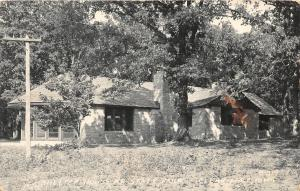 F24/ Clear Lake Iowa Real Photo RPPC Postcard 1964 Shelter House Park