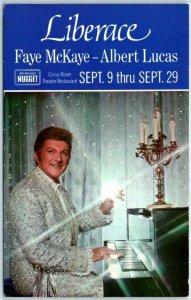 Reno, Nevada Postcard NUGGET Casino Liberace Concert Ad Circus Room c1970s