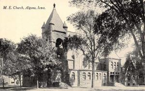 Algona IA Half-Moon, Open Belltower~United Methodist Episcopal c1910 PC
