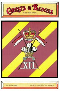 Postcard Armed Forces 12th Prince of W Royal Lancers Crest Badge No.31 NEW BL31