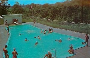 Dowling Michigan~Wesley Woods United Methodist Camp~Pool~Swimming Caps~1960s