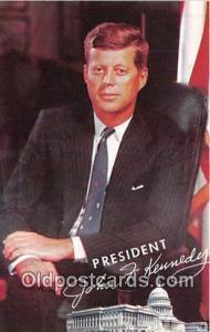 Postcard President John F Kennedy